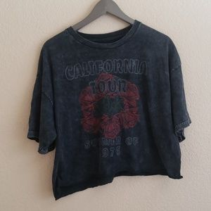 Vintage Style Califirnia Tour 1976 crop top B95